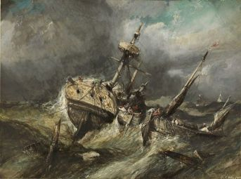 """Eugene Isabey's """"Shipwreck"""""""