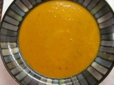 http://orangejammies.com/2011/04/06/happy-hausfrau-series-rosemary-infused-carrot-ginger-soup/